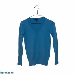 J. Crew Merino Wool VNeck Sweater Blue Size Small